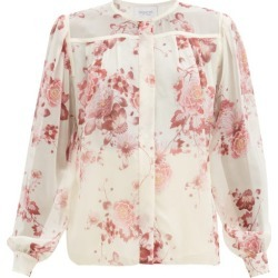 Giambattista Valli - Floral-print Silk-georgette Blouse - Womens - Pink Print found on MODAPINS from Matches Global for USD $1900.00