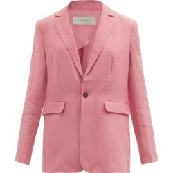 Asceno - Azores Single-breasted Organic-linen Jacket - Womens - Dusty Pink found on MODAPINS from Matches UK for USD $599.57