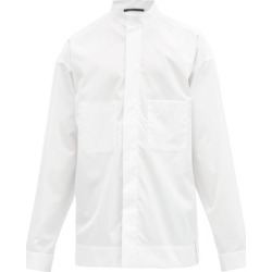 Haider Ackermann - Band-collar Cotton Shirt - Mens - White found on MODAPINS from Matches Global for USD $378.00