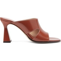 Wandler - Marie Cutout Leather Mules - Womens - Tan found on Bargain Bro UK from Matches UK