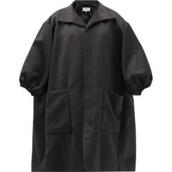 Maison Margiela - Puff-sleeved Satin Coat - Womens - Black found on Bargain Bro UK from Matches UK
