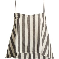 Anaak - Akari Striped Cotton Cami Top - Womens - Grey White found on MODAPINS from Matches Global for USD $128.00