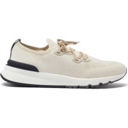 Brunello Cucinelli - Lace-up Mesh Trainers - Mens - Beige found on Bargain Bro UK from Matches UK
