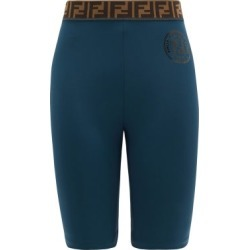 Fendi - Ff-jacquard Stretch-jersey Bike Shorts - Womens - Navy found on Bargain Bro Philippines from MATCHESFASHION.COM - AU for $398.27