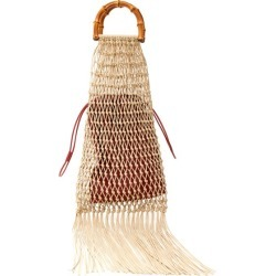 Jil Sander - Bamboo-handle Macramé String Bag - Womens - Beige Multi found on Bargain Bro UK from Matches UK