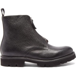 Grenson - Mortimer Zipped Grained-leather Boots - Mens - Black found on MODAPINS from Matches UK for USD $445.27