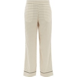 Asceno - London Square-print Silk Pyjama Trousers - Womens - Cream Print found on MODAPINS from Matches Global for USD $160.00