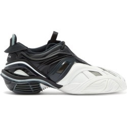 Balenciaga - Tyrex Square-toe Jersey And Mesh Trainers - Mens - Black White found on Bargain Bro UK from Matches UK