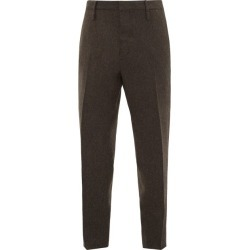 Aldo Maria Camillo - Tapered-leg Herringbone Wool Trousers - Mens - Brown found on Bargain Bro India from MATCHESFASHION.COM - AU for $269.50