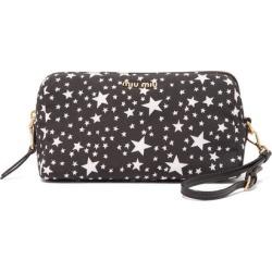 Miu Miu - Star-print Nylon Wash Bag - Womens - Black White found on Bargain Bro UK from Matches UK