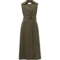 Harris Wharf London - Sleeveless Felted-wool Coat - Womens - Khaki found on MODAPINS from Matches UK for USD $818.35