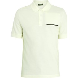 Berluti - Contrast Trim Cotton Blend Piqué Polo Shirt - Mens - Green found on MODAPINS from Matches Global for USD $290.00