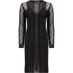 Ann Demeulemeester - Inside-out Layered Lace Midi Dress - Womens - Black found on MODAPINS from Matches Global for USD $522.00