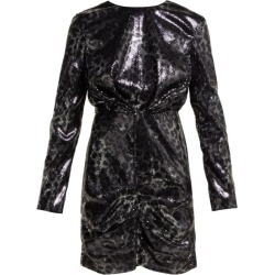 MSGM - Sequinned Leopard-print Mini Dress - Womens - Black Silver found on Bargain Bro UK from Matches UK