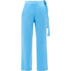 Worme - The Slim Flare Silk Trousers - Womens - Blue found on Bargain Bro UK from Matches UK