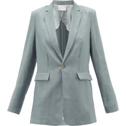 Asceno - Azores Single-breasted Organic-linen Blazer - Womens - Grey found on MODAPINS from Matches Global for USD $540.00