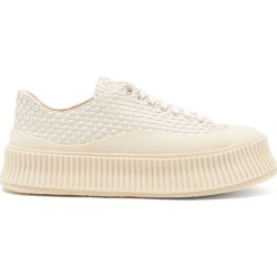 Jil Sander - Ribbed-sole Woven-leather Trainers - Womens - Cream found on Bargain Bro UK from Matches UK