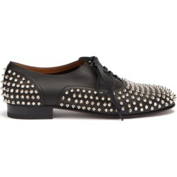 Christian Louboutin - Freddy Spike-embellished Leather Oxford Shoes - Mens - Black found on Bargain Bro Philippines from Matches Global for $1295.00
