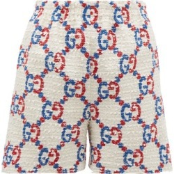 Gucci - GG Logo-jacquard Bouclé Tweed Shorts - Womens - White Multi found on Bargain Bro India from Matches Global for $1300.00