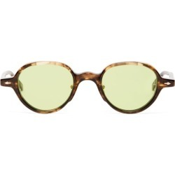 Jacques Marie Mage - Clark Round Marbled-acetate Sunglasses - Mens - Tortoiseshell found on MODAPINS from MATCHESFASHION.COM - AU for USD $680.89