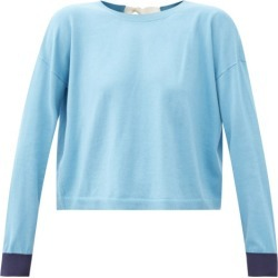 Marni - Tie-back Cotton-blend Sweater - Womens - Blue found on Bargain Bro UK from Matches UK