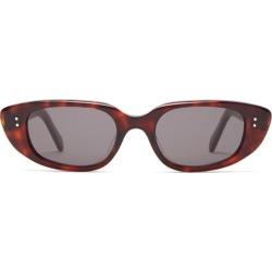 Celine Eyewear - Oval Acetate Sunglasses - Womens - Tortoiseshell found on Bargain Bro UK from Matches UK