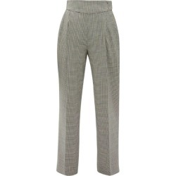 MSGM - Houndstooth Wool-blend Straight-leg Trousers - Womens - Black White found on Bargain Bro UK from Matches UK