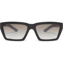 Prada Eyewear - Rectangular Acetate Sunglasses - Mens - Black found on Bargain Bro from Matches Global for USD $212.80