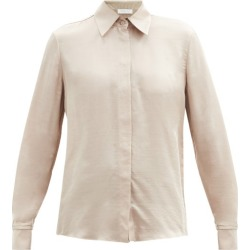 Gabriela Hearst - Jaq Buttoned-cuff Silk-blend Twill Shirt - Womens - Camel found on MODAPINS from Matches Global for USD $1025.00