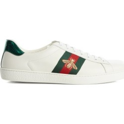 Gucci - Baskets en cuir à broderie abeille Ace found on Bargain Bro from matchesfashion.com fr for USD $533.52