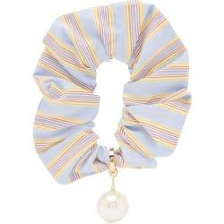 Miu Miu - Pearl-embellished Striped Scrunchie - Womens - Blue Stripe found on Bargain Bro UK from Matches UK