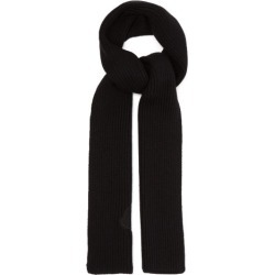 2 Moncler 1952 - Logo-appliqué Wool Scarf - Mens - Black found on Bargain Bro UK from Matches UK