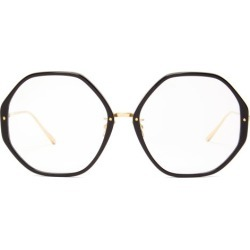 Linda Farrow - Alona C10 Oversized Acetate Glasses - Womens - Gold found on MODAPINS from Matches Global for USD $488.00