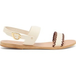 Ancient Greek Sandals - Dinami Whipstitched Slingback Leather Sandals - Womens - White found on MODAPINS from Matches Global for USD $275.00