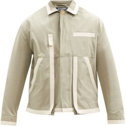 Jacquemus - Taped-seam Cotton-canvas Jacket - Mens - Green found on Bargain Bro UK from Matches UK