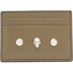 Alexander Mcqueen - Skull-embellished Leather Cardholder - Womens - Khaki Multi found on Bargain Bro Philippines from Matches Global for $250.00