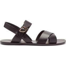Ancient Greek Sandals - Socrates Ribbed Leather Sandals - Mens - Black found on MODAPINS from Matches Global for USD $169.00