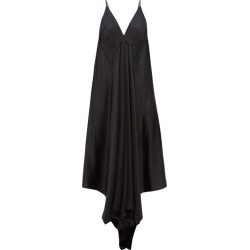 Ann Demeulemeester - Magya Draped Satin Slip Dress - Womens - Black found on MODAPINS from Matches Global for USD $474.00