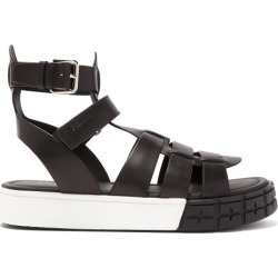 Prada - Sandales en cuir à semelle épaisse found on Bargain Bro from matchesfashion.com fr for USD $741.00