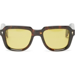 Jacques Marie Mage - Taos Square Acetate Sunglasses - Mens - Tortoiseshell found on MODAPINS from Matches Global for USD $688.00