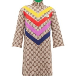 Gucci - GG Supreme-jacquard Rainbow-appliqué Dress - Womens - Brown Multi found on Bargain Bro Philippines from Matches Global for $2300.00