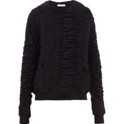 Bianca Saunders - Shirred Fleece-back Cotton Sweatshirt - Mens - Black found on Bargain Bro India from MATCHESFASHION.COM - AU for $261.29