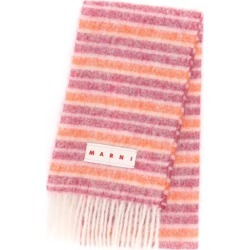 Marni - Logo-appliqué Striped Scarf - Womens - Pink Multi found on Bargain Bro UK from Matches UK