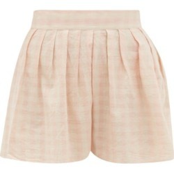 Anaak - Annex Checked Cotton Shorts - Womens - Pink Print found on MODAPINS from Matches Global for USD $247.00