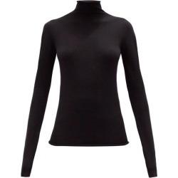 Jil Sander - High-neck Wool-blend Long-sleeved Top - Womens - Black found on Bargain Bro UK from Matches UK