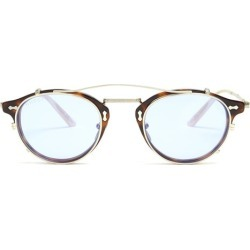 Gucci - Detachable Lens Round Acetate Sunglasses - Mens - Brown found on Bargain Bro UK from Matches UK