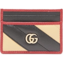 Gucci - GG Marmont Striped Leather Cardholder - Womens - Red Multi found on Bargain Bro India from Matches Global for $290.00
