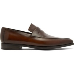 Berluti - Andy Demesure Leather Loafers - Mens - Brown found on MODAPINS from MATCHESFASHION.COM - AU for USD $2024.48