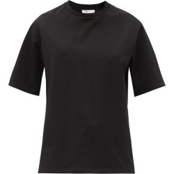 The Row - Chiara Cotton-jersey T-shirt - Womens - Black found on Bargain Bro India from MATCHESFASHION.COM - AU for $401.11