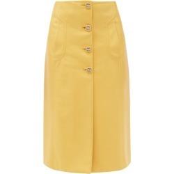 Prada - Buttoned Leather Midi Skirt - Womens - Yellow found on Bargain Bro UK from Matches UK